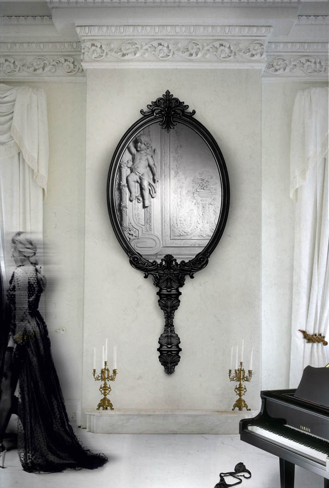 The Newest Boca da Lobo Limited Edition Wall Mirror : The Marie Antoinette.