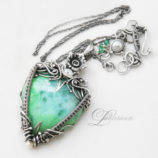 Aquarieel by Lunarieen - agate , green onyx