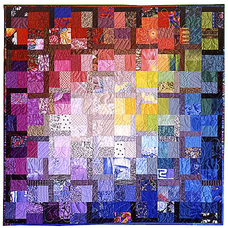 "Artistic Quilt ""Saffron"" by Melody Crust"