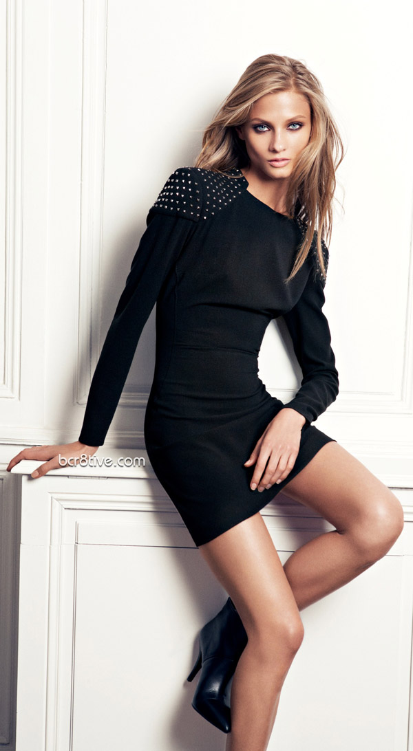 Anna Selezneva From the Mango 2012 Winter Collection - Studded shoulders dress