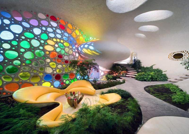 The Nautilus House by Javier Senosiain - Sitting Room