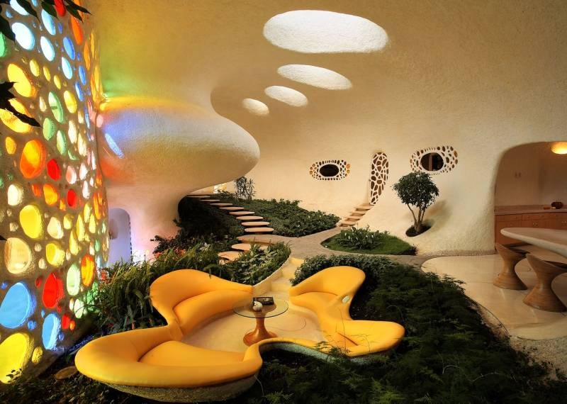 The Nautilus House by Javier Senosiain - Gorgeous Sitting Area