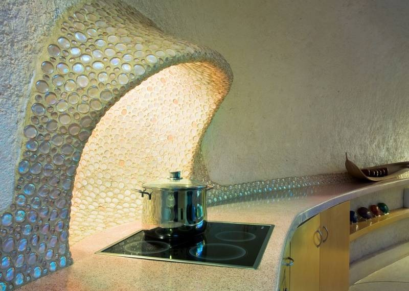 The Nautilus House by Javier Senosiain - Kitchen