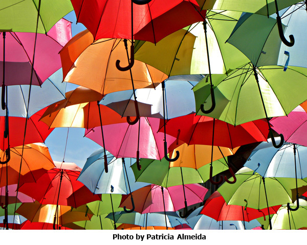 Umbrella Sky Photo by Patricia Almeida