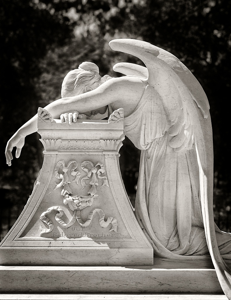Sanford Angel - Angel at grave site for Leland Stanford Jr. on Stanford University campus by Mark Coggins