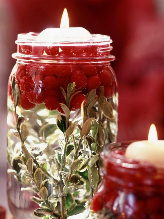 Illuminating Holiday Mason Jars from BHG