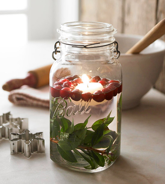 Mason Jar Nature Crafts for Your Winter Table