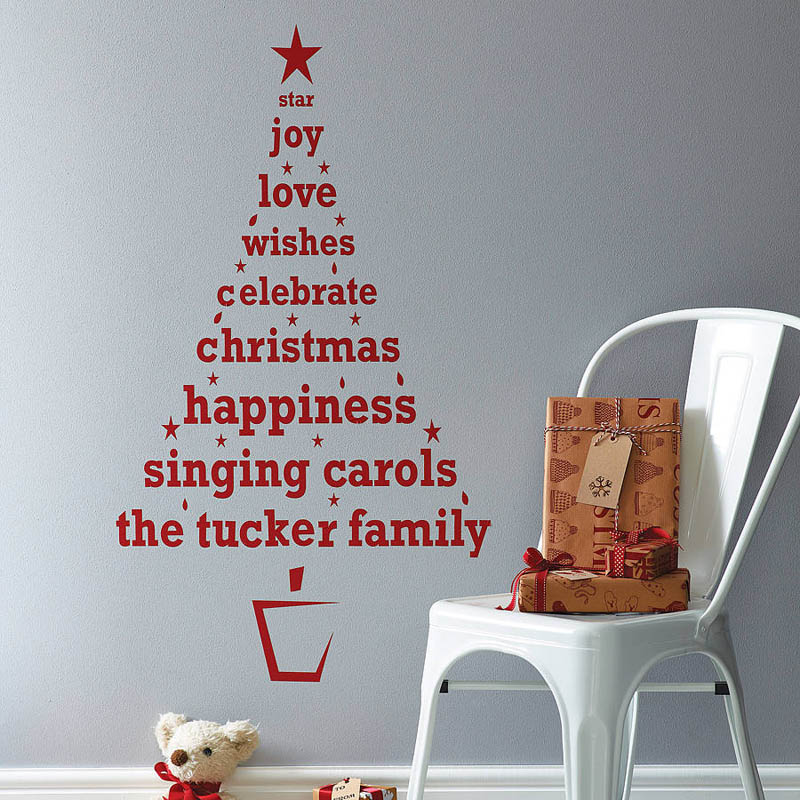 Personalized Christmas Tree Wall Sticker by Spin Collective
