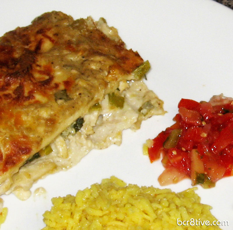 bcr8tive's Green Chile Chicken Enchilada Casserole