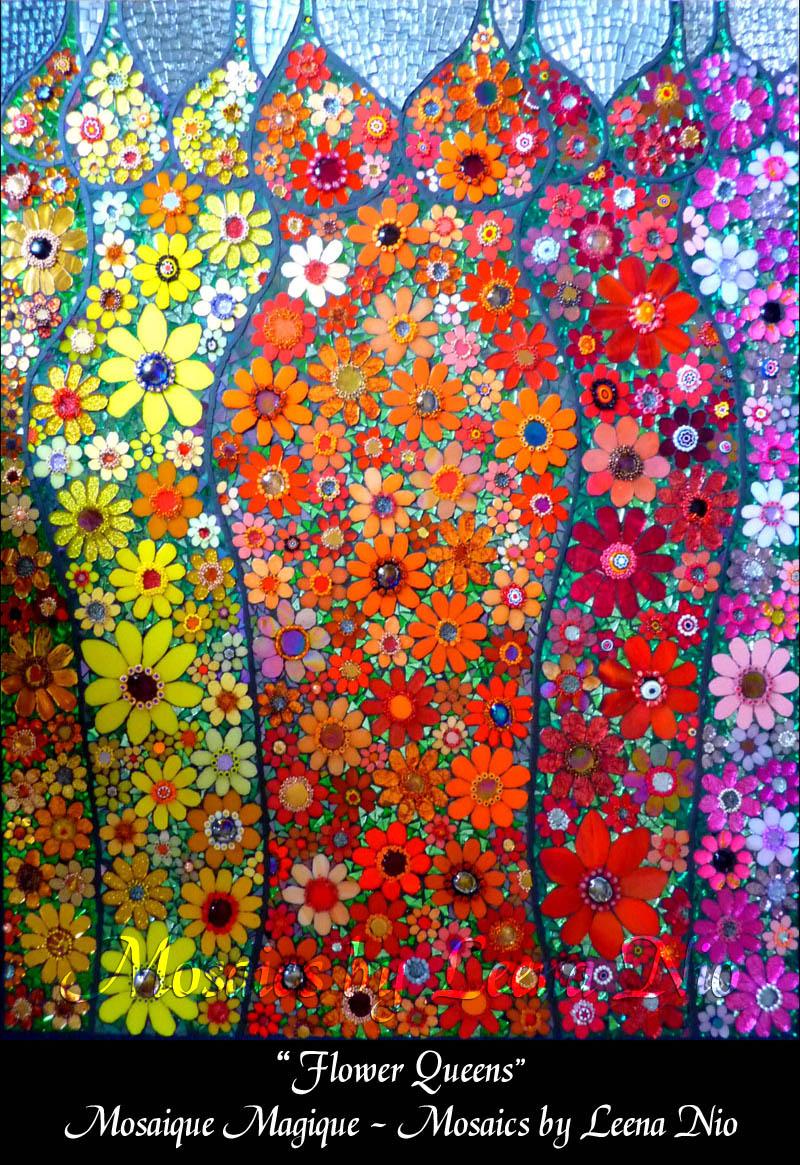 Mosaics by Leena Nio - Flower Queens