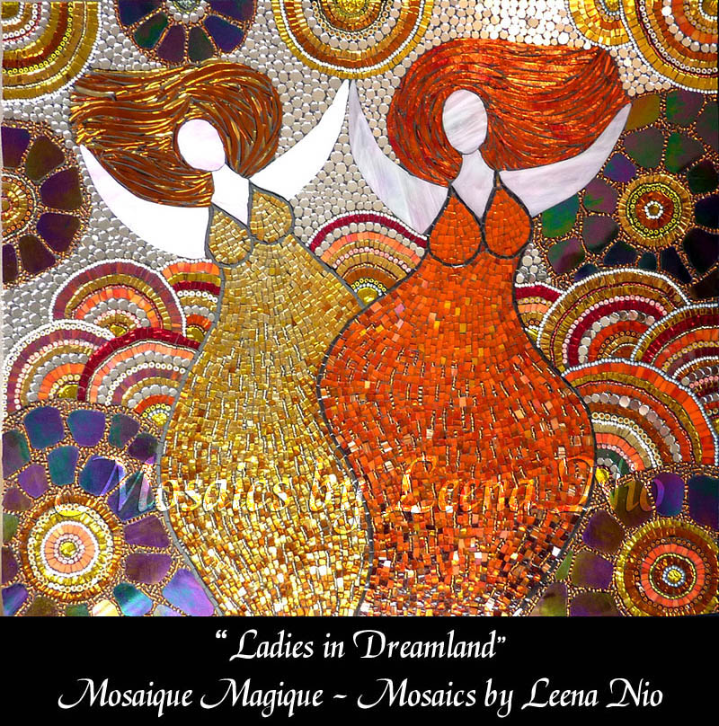 Mosaics by Leena Nio - Ladies in Dreamland