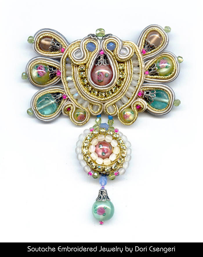 Soutache Embroidered Jewelry by Dori Csengeri - Romantic
