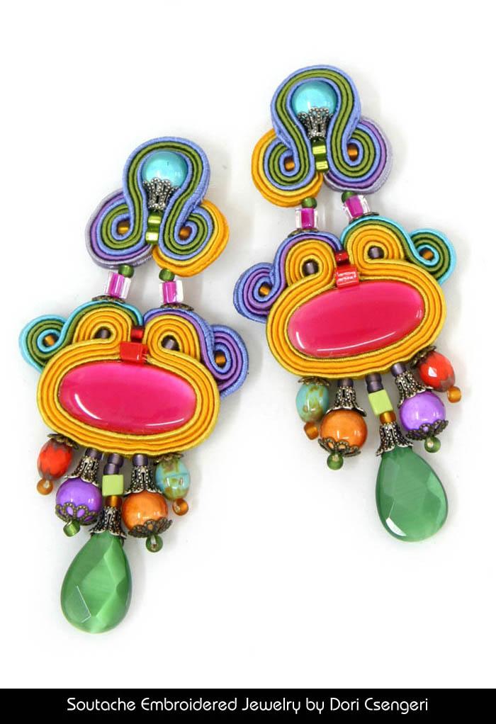 Soutache Embroidered Jewelry by Dori Csengeri - Euphoria