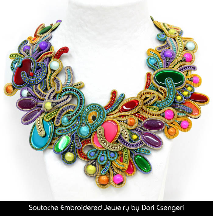 Soutache Embroidered Jewelry by Dori Csengeri - Euphoria