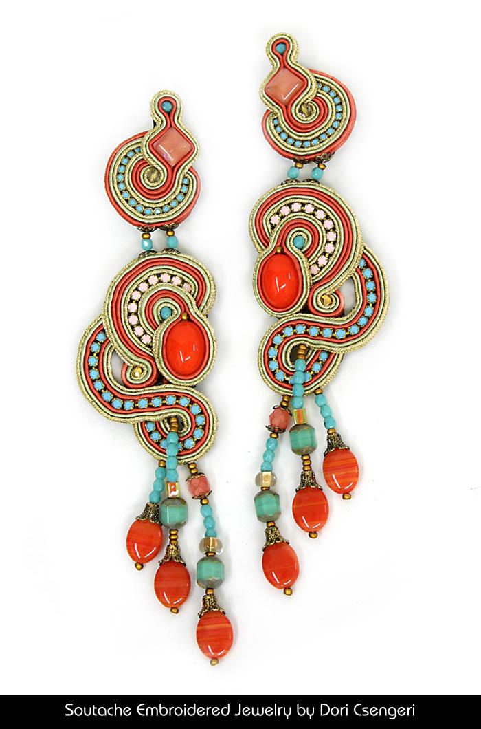 Soutache Embroidered Jewelry by Dori Csengeri - Ceasarea