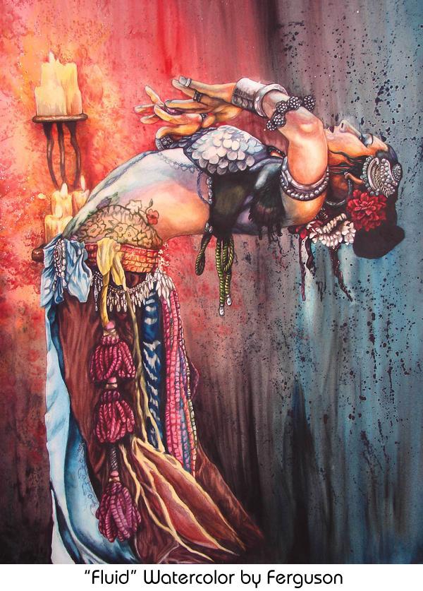 Fluid by Ferguson - Watercolor Painting of Rachel Brice