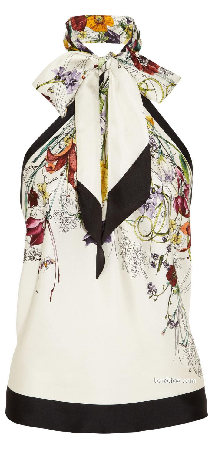 Gucci Floral Print Top