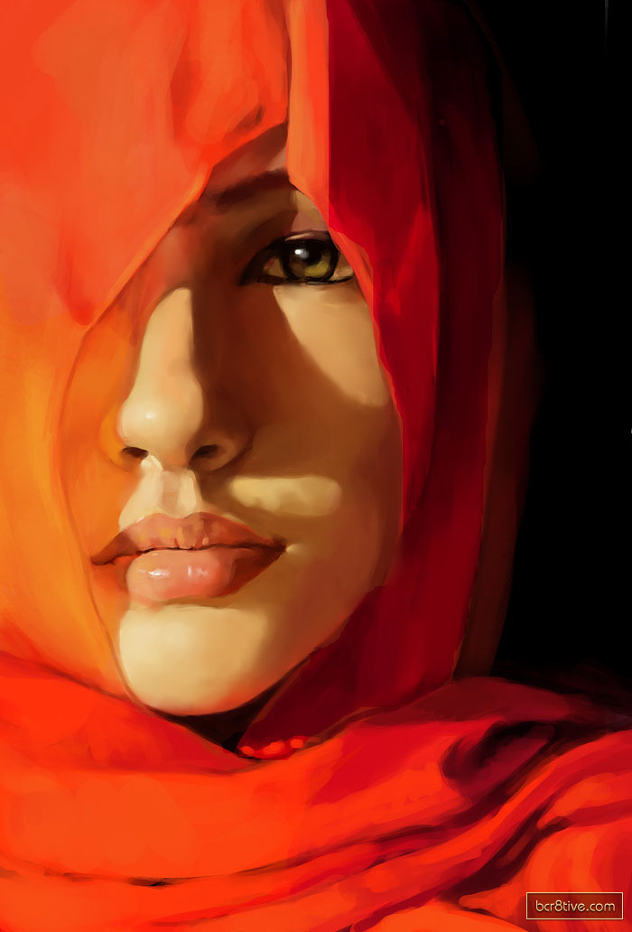Hijab Fine Art Oil Painting