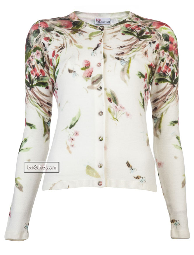 RED VALENTINO Floral printed cardigan