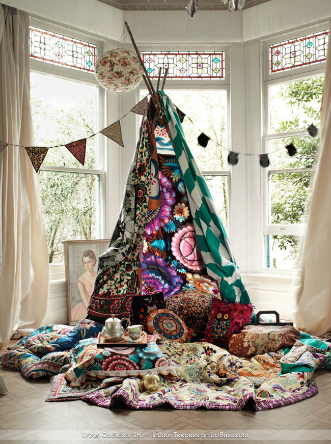 Indoor Teepee styled by Emma Persson Lagerberg for Urban Outfitters UK