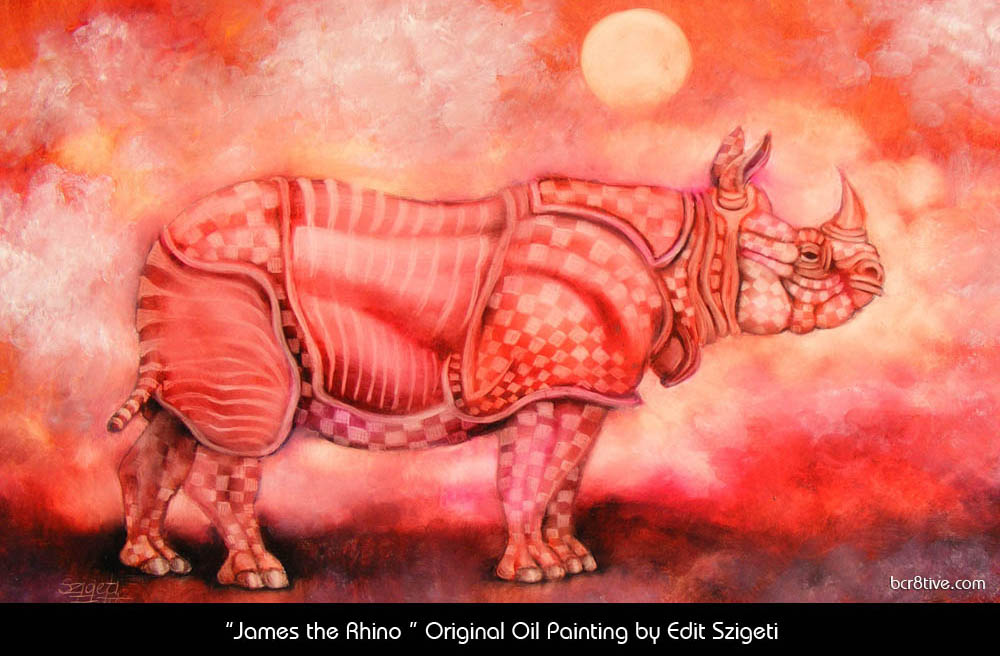 "Edit Szigeti's ""James the Rhino"""