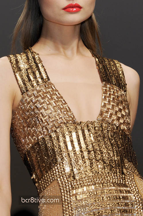 Gianfranco Ferre Fall Winter 2010 - Gold Gown Detail