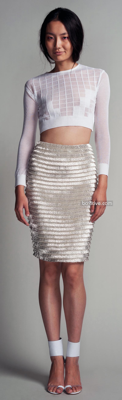 Hakaan Spring Summer 2012 - Glass Beaded Kandora Skirt & Aissa Jumper - Knit Sweater