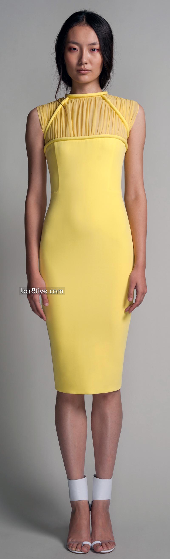 Hakaan Spring Summer 2012 - Efusa Dress - Slim Fit Sheath Dress Silk & Viscose Fully Lined