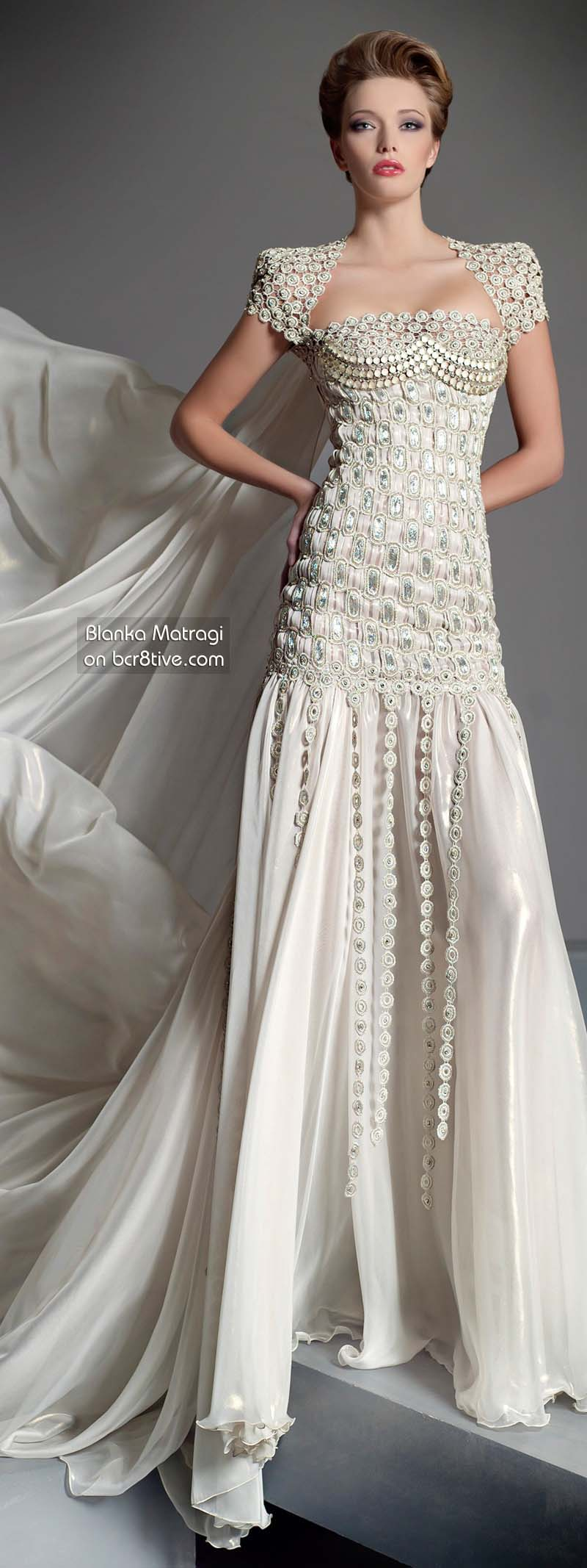The Versatile Talents of Artisan Blanka Matragi » Blanka Matragi 30th Anniversary Couture Collection - Wedding Dress