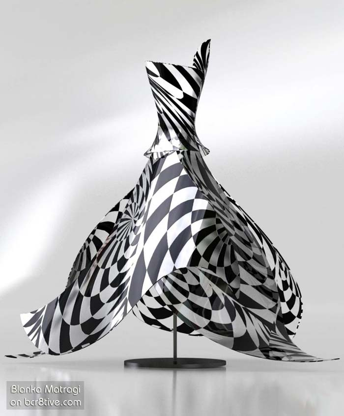 Blanka Matragi Black & White Glass Dress
