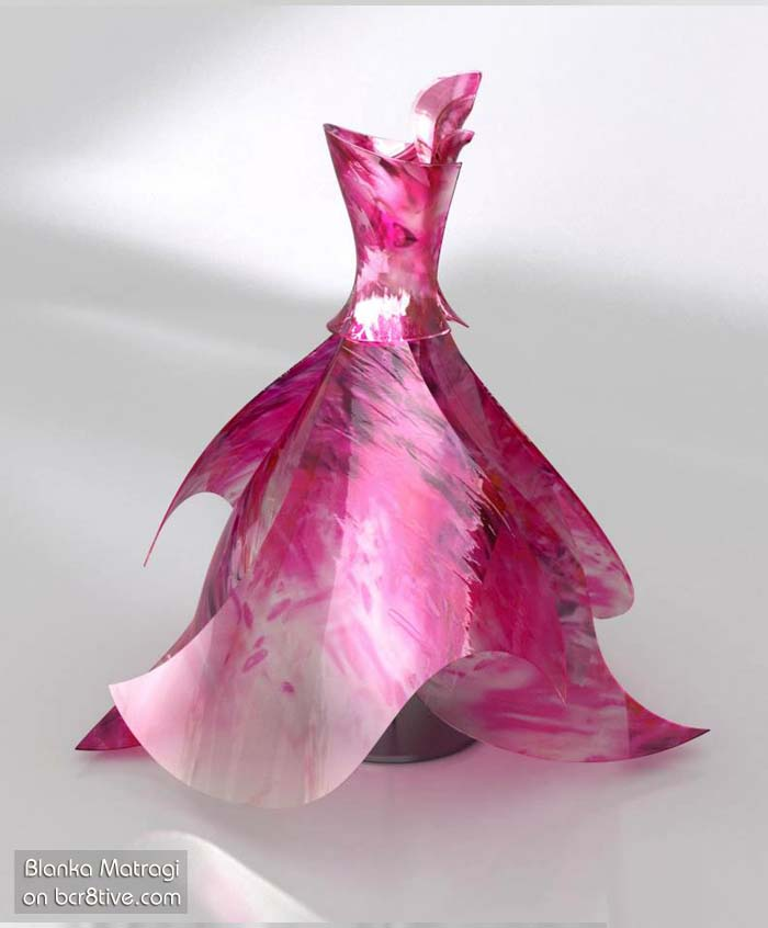 Blanka Matragi Pink Glass Dress