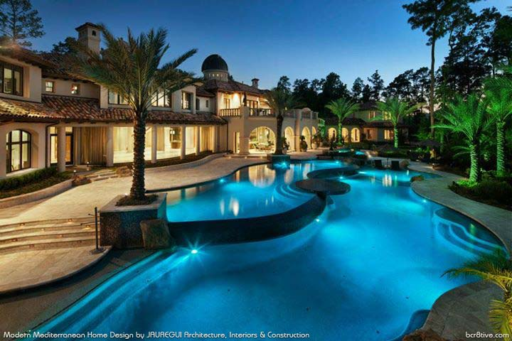 JAUREGUI Architecture, Interiors & Construction - Mediterranean Pool