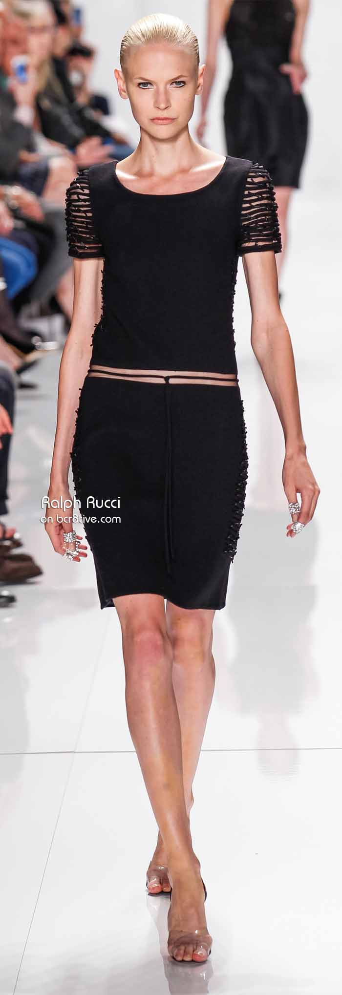 Ralph Rucci Spring 2014 #NYFW - Little Black Dress with Macrame