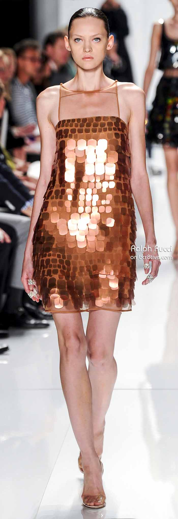 Ralph Rucci Spring 2014 #NYFW - Copper Sequin Dress