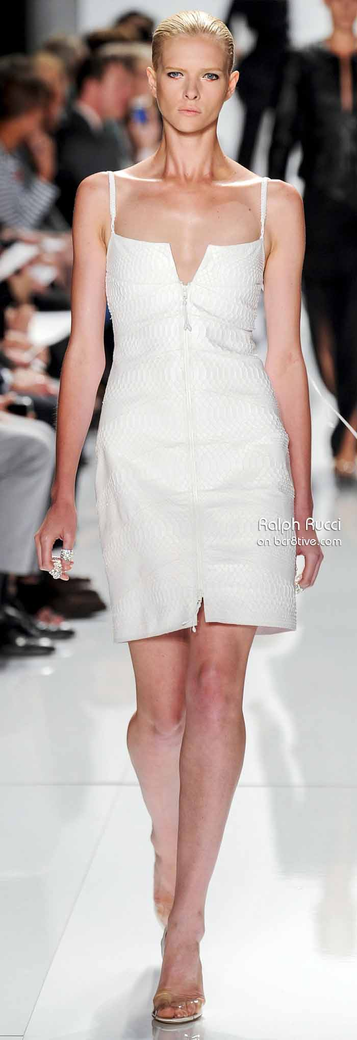 Ralph Rucci Spring 2014 #NYFW -  Embossed Leather Dress