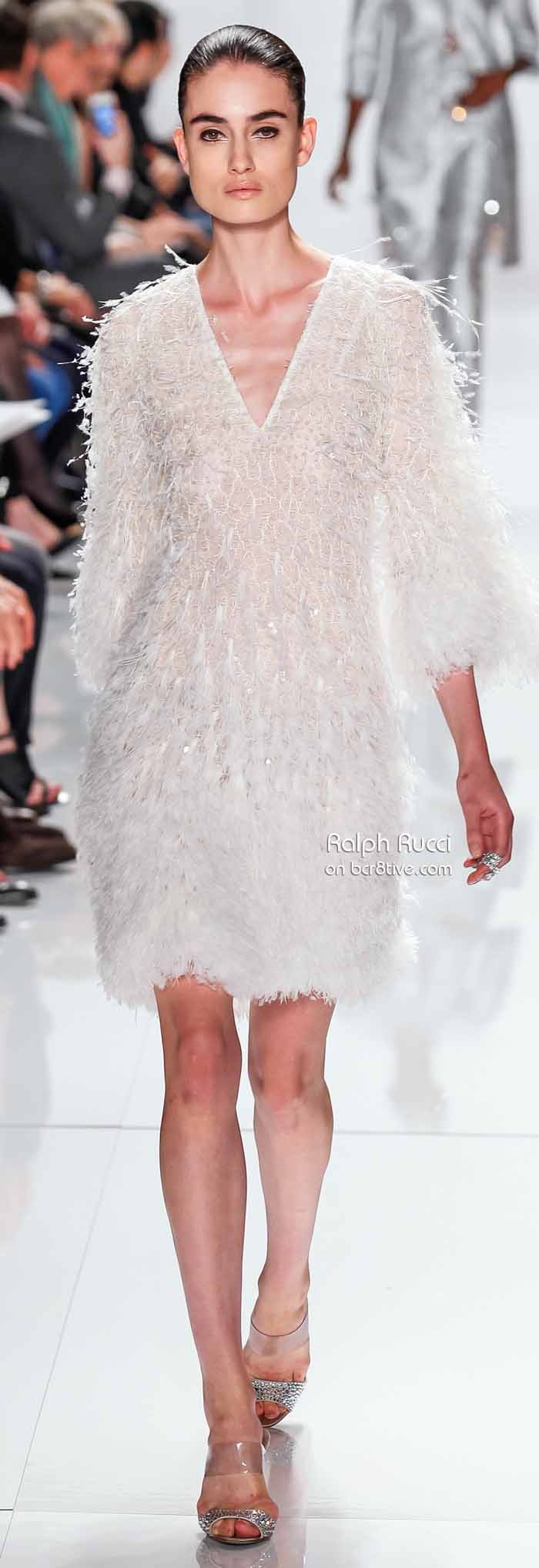 Ralph Rucci Spring 2014 #NYFW - Feathery Texture Dress
