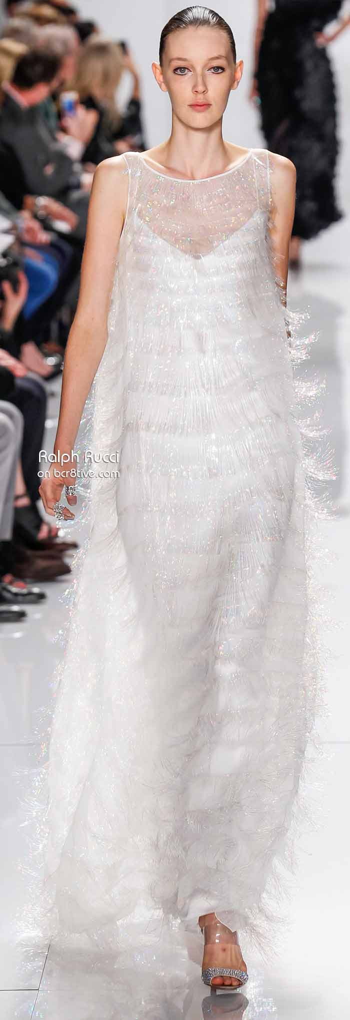 Ralph Rucci Spring 2014 #NYFW - Feathery Sparkle Texture