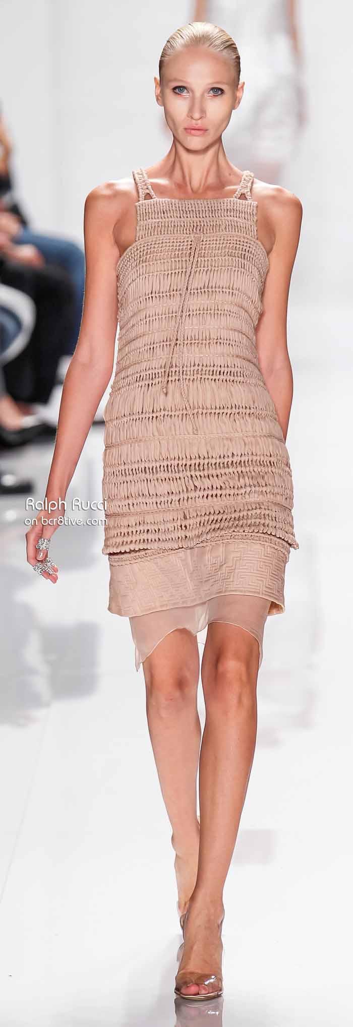 Ralph Rucci Spring 2014 #NYFW - Macrame Dress
