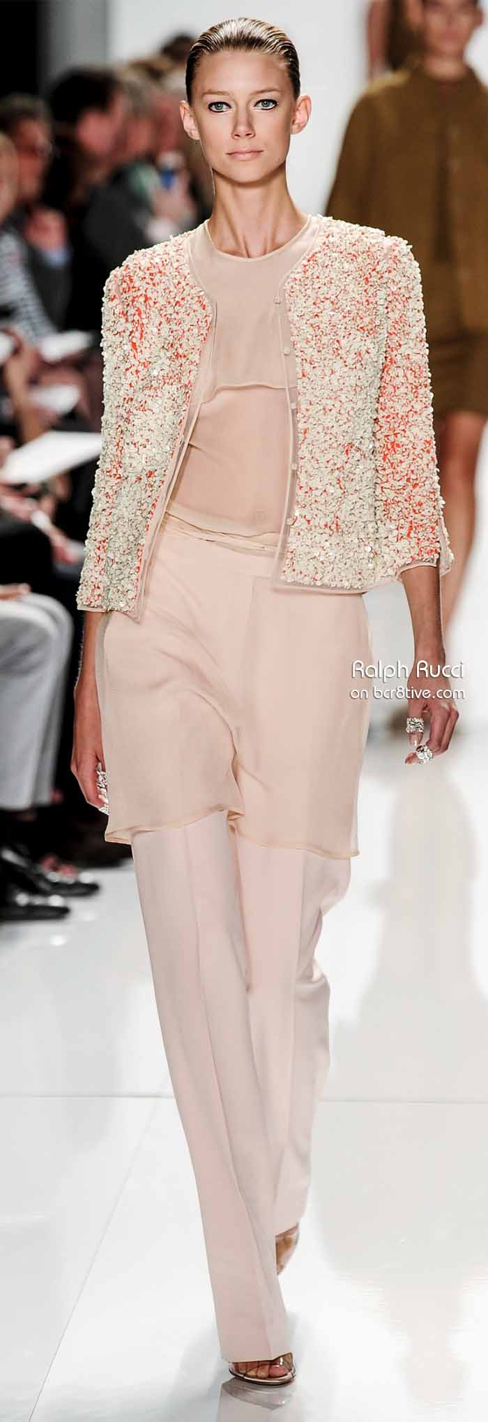 Ralph Rucci Spring 2014 #NYFW - Stone Crusted Jacket