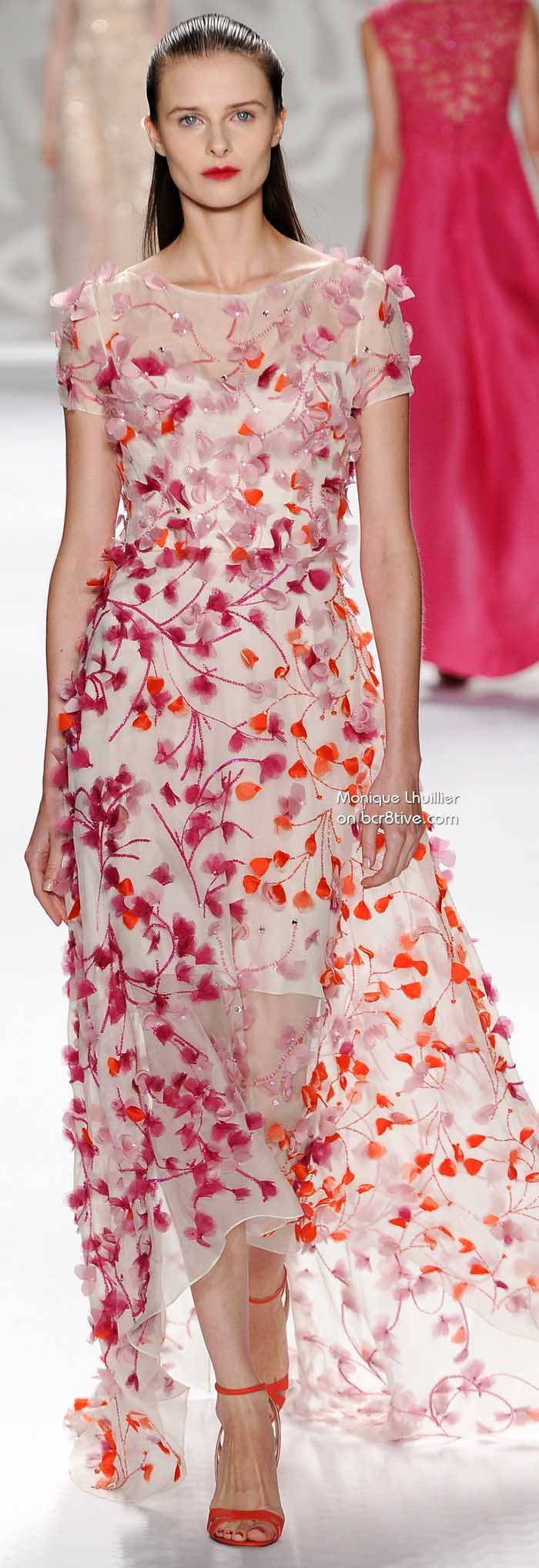 Monique Lhuillier весна 2014 # NYFW