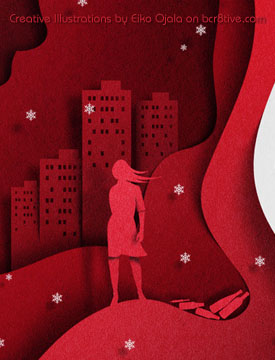 "Eiko Ojala - Detail of Book Cover ""Night Has Fallen"""