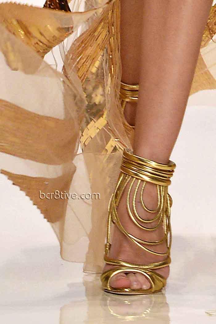 Valentin Yudashkin Spring 2014 - Gold Shoes
