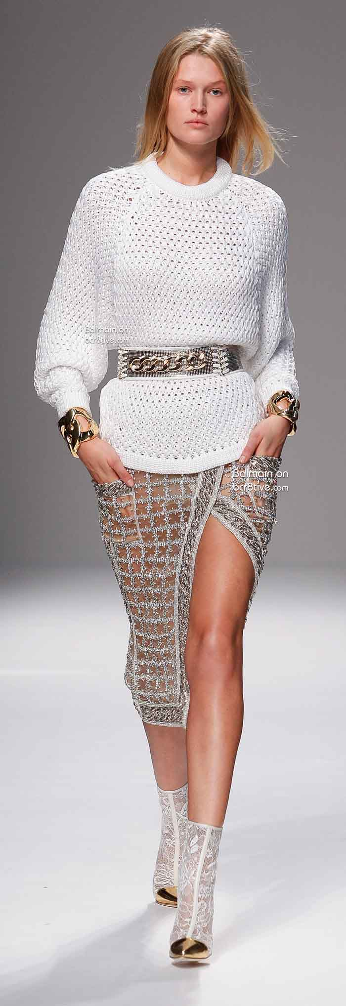 Balmain Spring 2014 Paris Fashion Week