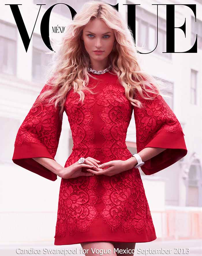 Candice Swanepoel for Vogue Mexico September 2013 - Dolce & Gabbana