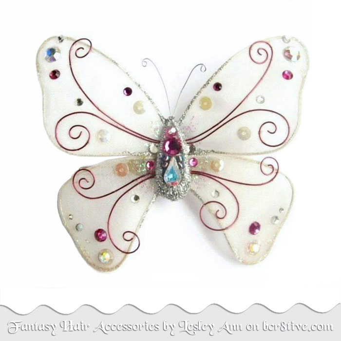 Ivory Butterfly Hair Accessory by Lesley Ann