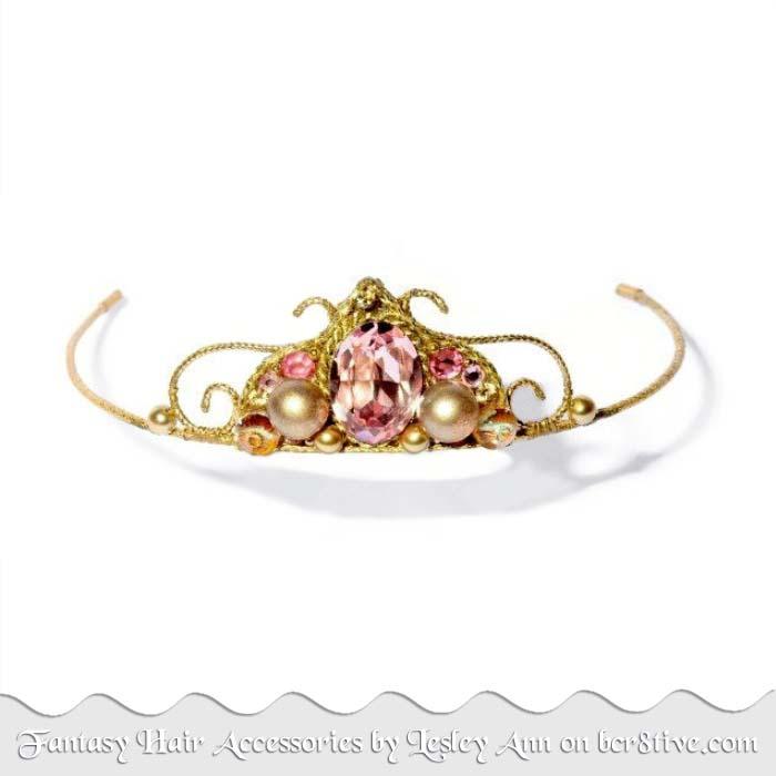 Rosa Pink Tiara by Lesley Ann