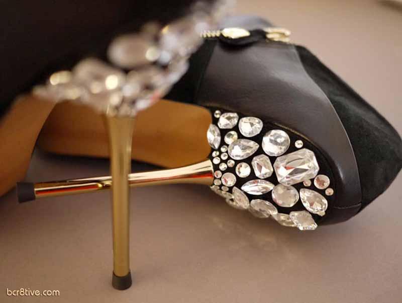 DIY Jeweled Heels Tutorial by HonestlyWTF