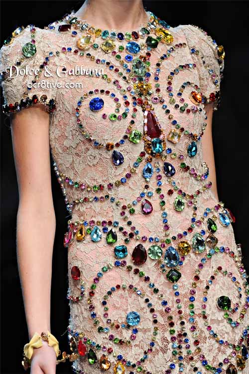 Dolce & Gabbana Crystal Gemstone Dress