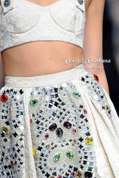 Dolce & Gabbana Crystal Gemstone Skirt