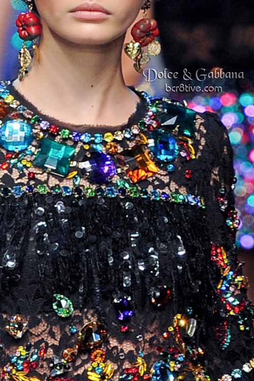 Dolce & Gabanna Crystal Gemstone Dress
